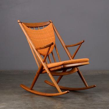 Frank Reenskaug Rocking Chair Danish Modern Teak by MadsenModern