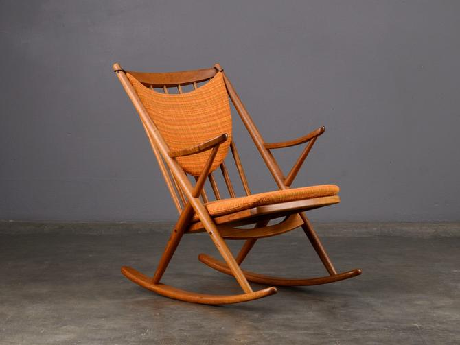Frank Reenskaug Rocking Chair Danish Modern Teak by MadsenModern