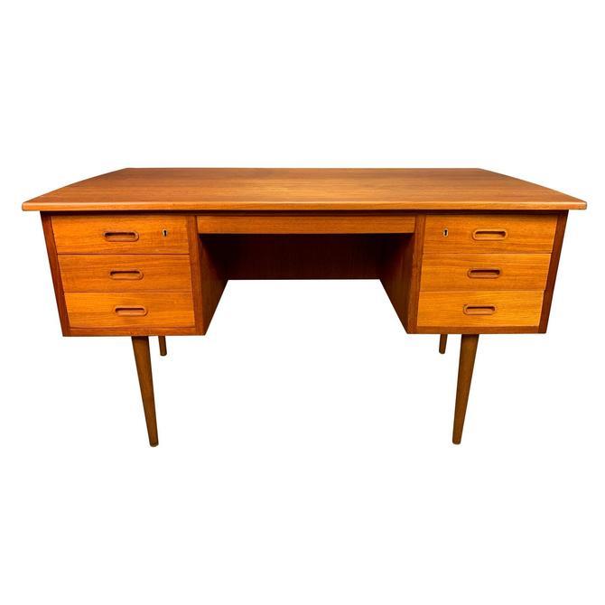 Vintage Danish Mid Century Modern Teak Writing Desk #2 by AymerickModern