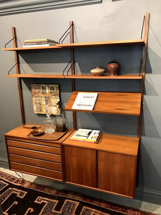 Vintage Danish Modern Modular Shelving Unit