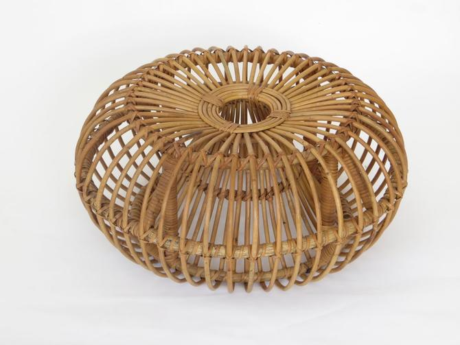 Rattan Stool in The Style of Franco Albini and Franca Helg