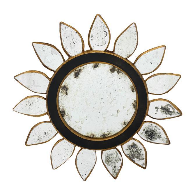 Vintage Sunburst with Black Glass