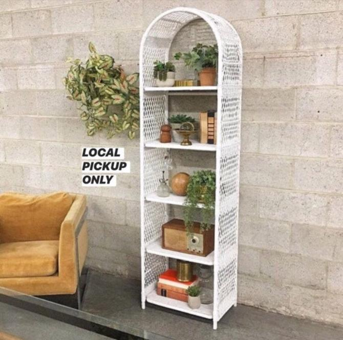 LOCAL PICKUP ONLY ———— Vintage Arch Shelving Unit by RetrospectVintage215