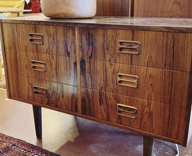 Danish Mid Century Rosewood Dresser Cabinet by BigWhaleConsignment
