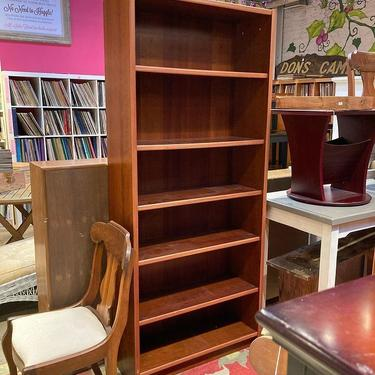"""Danis Teak veneer bookshelf. Movable shelves. 33.5"""" x 12.5"""" x 76"""" 2 available"""