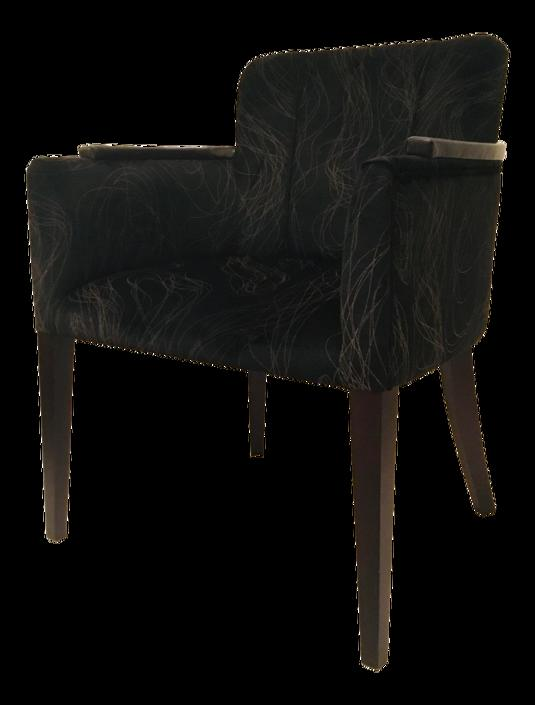 Caracole Signature Modern Black Abstract the Lofty Desk Chair