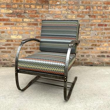 Industrial Style Steel Frame Lounge Chair