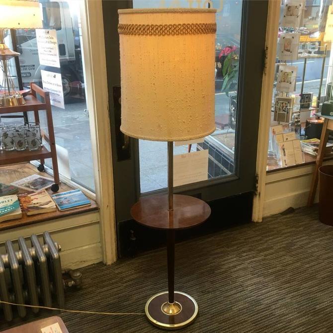 Vintage Mid Century Floor Lamp Side Table