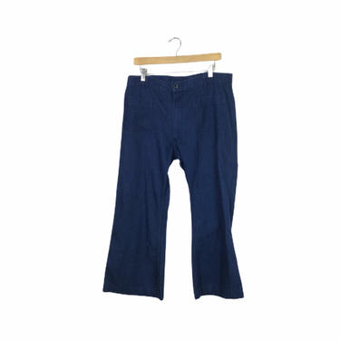 Vintage Flair Utility Denim Sailor Pants, Size 36 by Northforkvintageshop