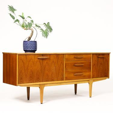 Danish Modern / Mid Century Teak Credenza / Sideboard by Jentique — Elliptical Pulls — Cocktail Cabinet by atomicthreshold
