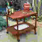 Mid century Danish teak tea trolley/bar cart