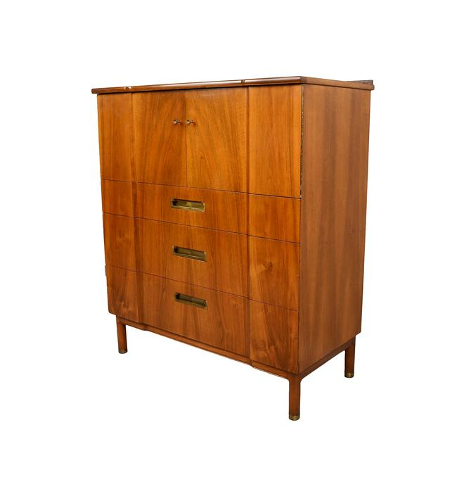 John Widdicomb Walnut Gentleman's Chest  Mid Century Modern by HearthsideHome