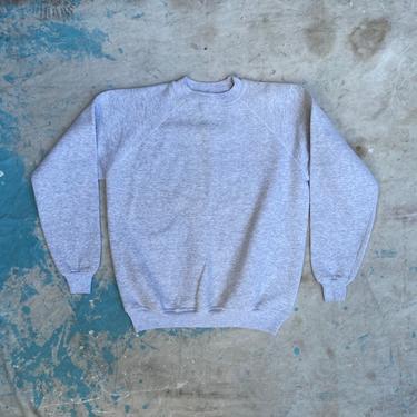 Vintage 1990s Hanes Her Way Raglan Crewneck Sweatshirt Heather Gray by NorthGroveAntiques