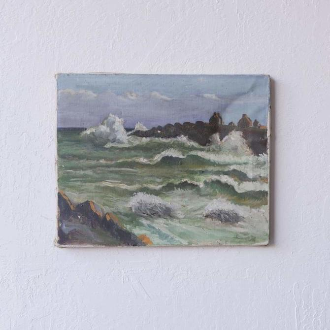 Crashing Waves Oil Painting