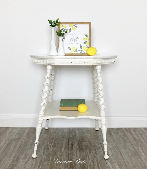 White Victorian Tiered Table by ForeverPinkVintage