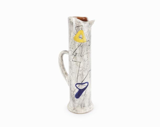 WEG Gallery Ceramic Vase Pitcher Mid Century Modern by VintageInquisitor