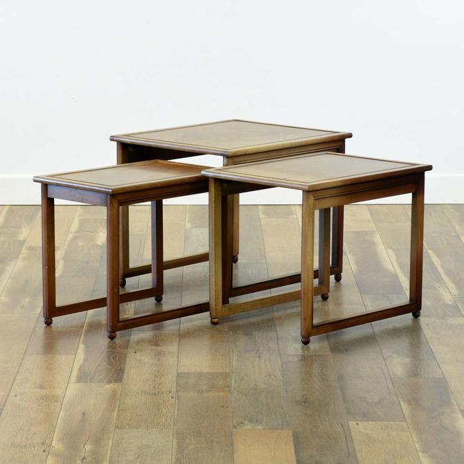 Set Of 3 1940'S Style Nesting End Tables