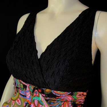 Vintage 70s Futura Couture of New York Maxi Resort Wear Hostess Lounge Wear Open Front Long Skirt  Semi Dress by GraveyardVintage
