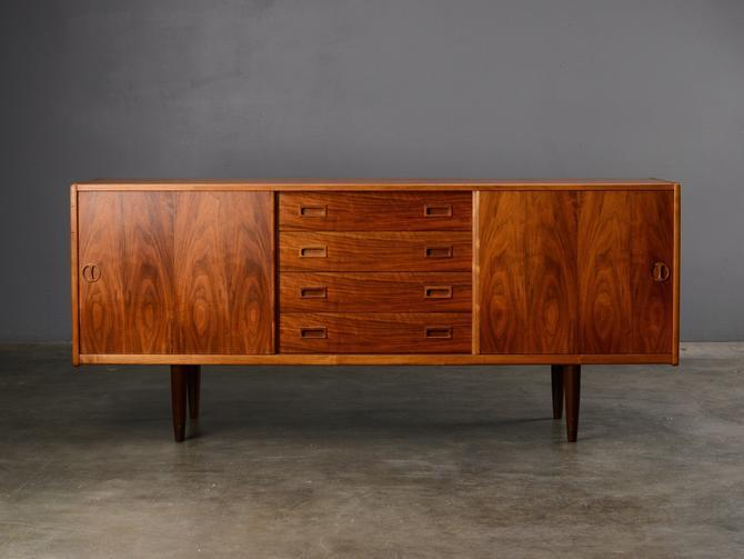 6ft Mid Century Sideboard Credenza Walnut Danish Modern by MadsenModern
