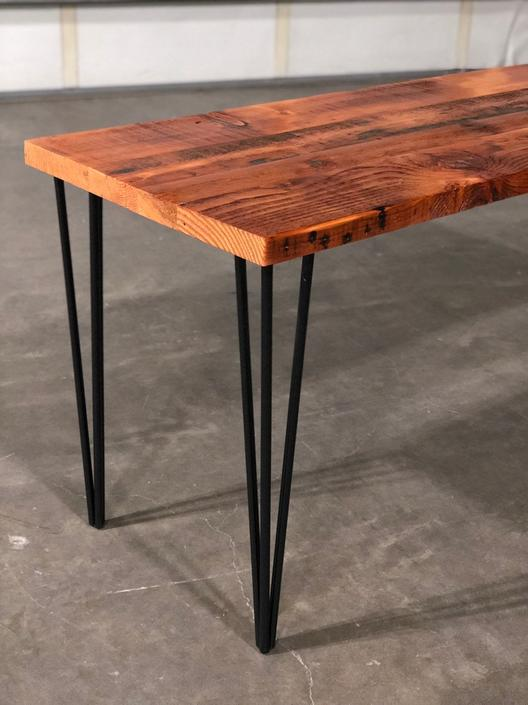 Industrial Table. Reclaimed wood table. Dinner Table. Dining Table. Rustic Table. Thanksgiving. Hair pin Legs. Industrial Desk. Old Table. by UrbanIndustrialNW