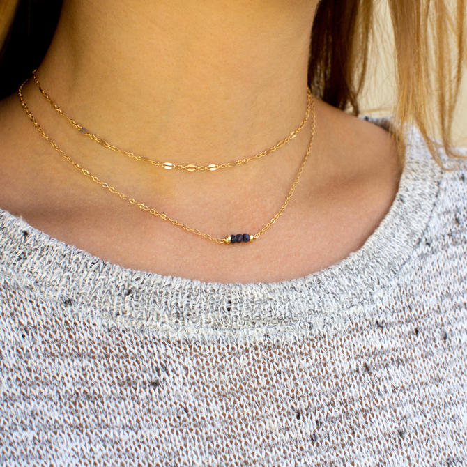 Lace Chain Choker, Tattoo Choker, Thin Lace Choker, Boho Choker, Chain Choker in Sterling Silver or 14K Gold Filled, LEILAJewelryshop, N204 by LEILAjewelryshop