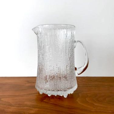 Vintage iittala of Finland Ultima Thule Glass Pitcher by Tapio Wirkkala by TheThriftyScout