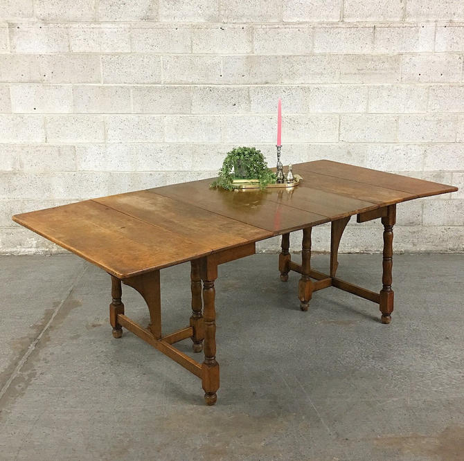 LOCAL PICKUP ONLY ———— Vintage Farmhouse Table by RetrospectVintage215
