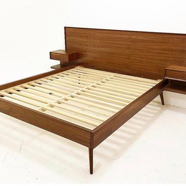 Custom Platform Walnut Bed by CaliforniaMWoodworks