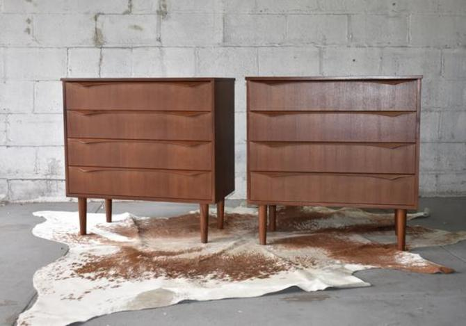 PAIR - Mid Century Modern Teak Dresser Set