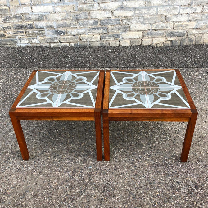 Walnut + Tile Accent-coffee Table Set