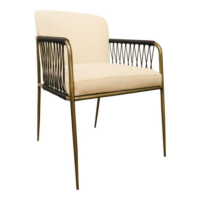 Caracole Modern Antique Brass Finished Accent Prototype Chair