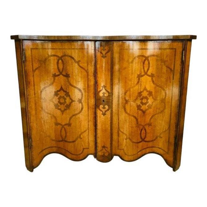 David Michael Transitional Italian Wood Inlay Cabinet