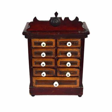Antique 19th Century Folk Art Spice Parts Collectors Apothecary Cabinet by PrairielandArt
