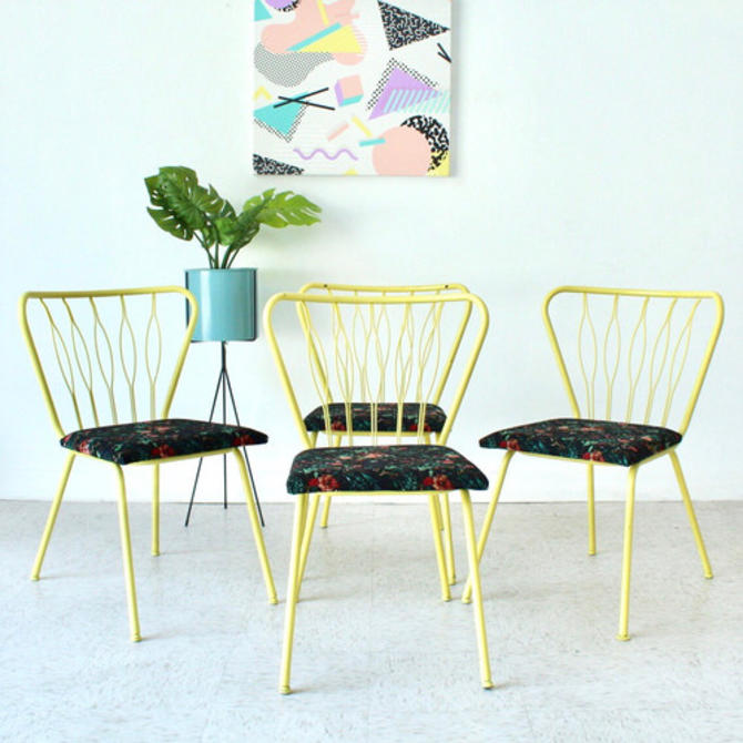 Yellow Vintage Floral Chairs