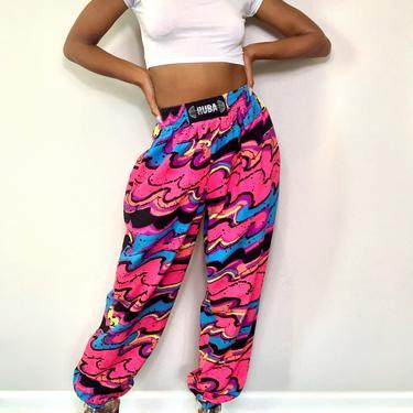 VINTAGE 80s Hot Pink Retro Pants Sz S by OhanaVintage718