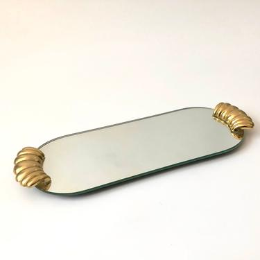 Vintage Oval Mirror Tray by SergeantSailor