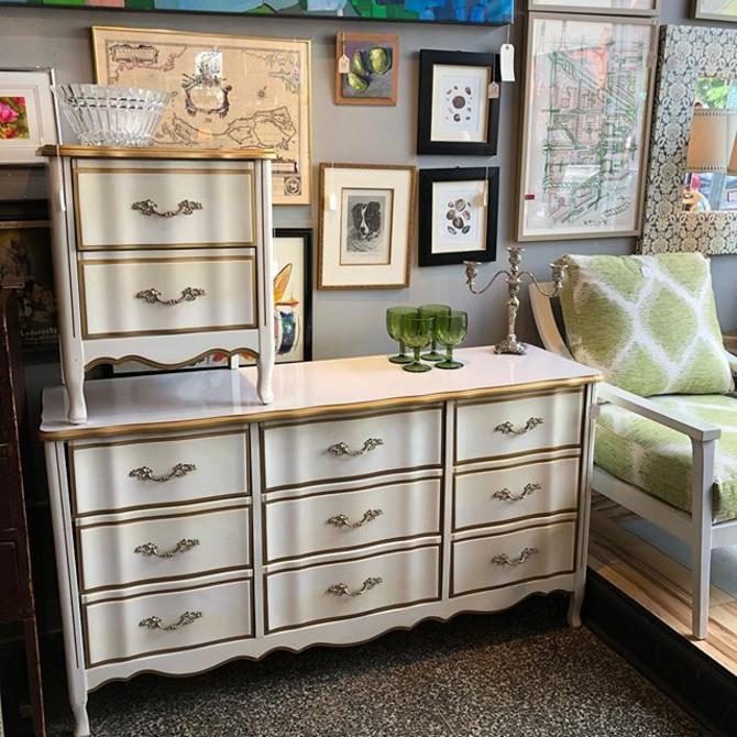 French Provincial dresser $250 nightstand $65!