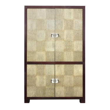 Larry Laslo Exceptional Shagreen Cabinet 1980s (Signed) - SOLD