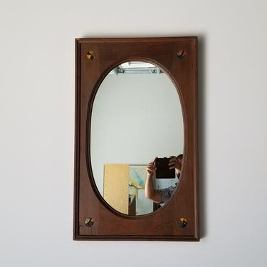 1970's Vintage Art Handmade Wall Mirror . by MIAMIVINTAGEDECOR