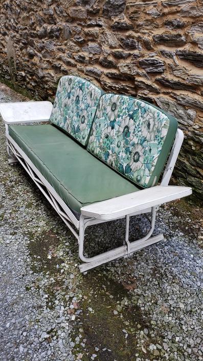 1950s Aluminum Porch Glider