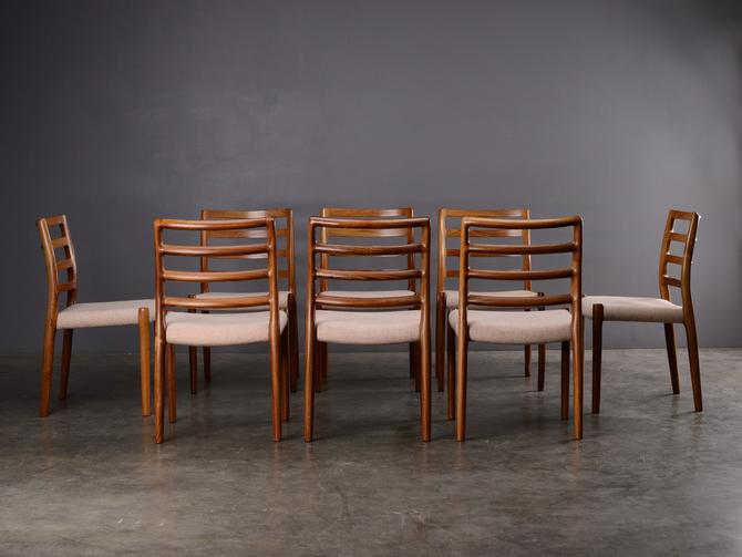 Set of 8 Moller Model 85 Dining Chairs Rosewood Mid Century Danish Modern by MadsenModern