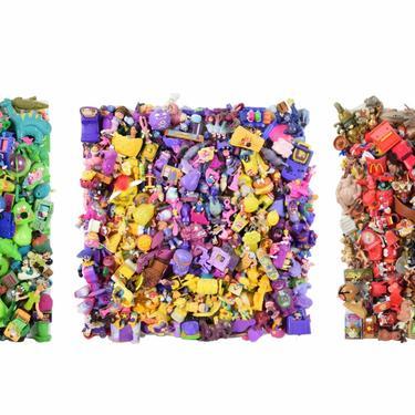 """Triptych Assemblage Sculpture Plastic Toys Spelling """"FUN"""" Chicago Artist by PrairielandArt"""