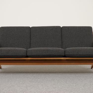 Danish Modern Oak & Wool GE-290/3 Sofa By Hans Wegner For Getama - (313-005.1) by ByDesignModern