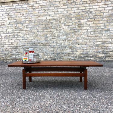 Jens Risom Walnut Bench-coffee Table