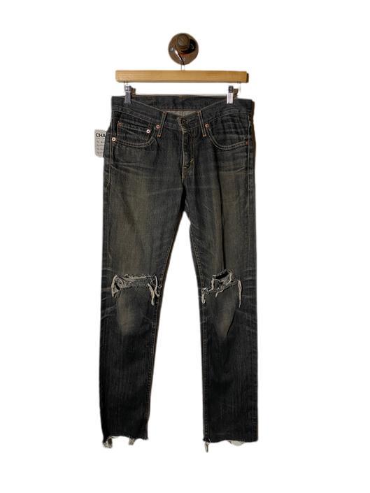 "(30"") Levi's 606 Black Stonewash Denim Pants 022221"