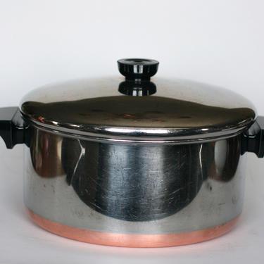 vintage revere ware 4.5 quart stock pot or dutch oven made in clinton illinois 1992 by suesuegonzalas