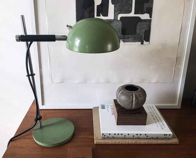 Unique Green Positionable Dome Lamp Space age Orb Lamp, Robert Sonneman Verner Panton by CaribeCasualShop