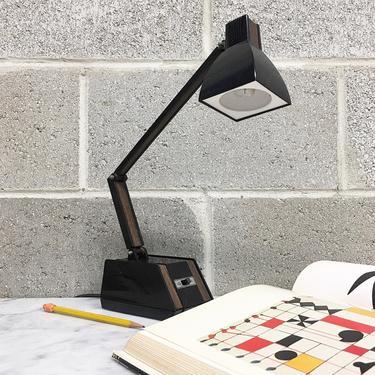 Vintage Desk Lamp Retro 1970s Mid Century Modern + Lite-Up LTD + Model Lux 302 + Task Light + Adjustable + MCM + Home and Office Decor by RetrospectVintage215