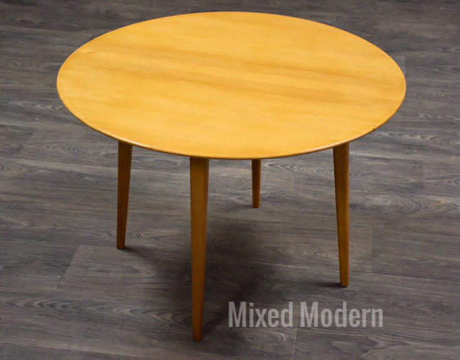 Round Beech Coffee Table by Elias Svedberg for Nordiska Kompaniet by mixedmodern1