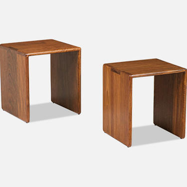 Gerald McCabe Cube Nesting Side Tables for Orange Crate Modern